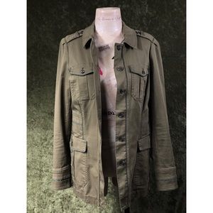 💞WHBM green military style army surplus jacket